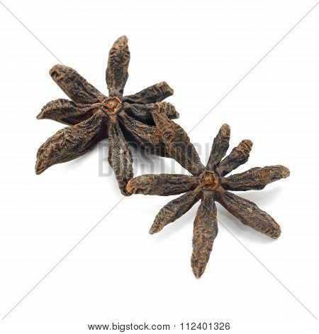 Star Anise Isolate On White Background