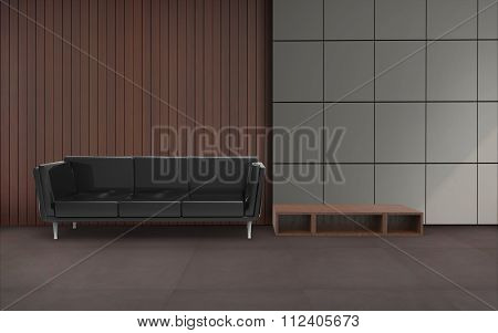 Living room Minimal Black Chair And Wall