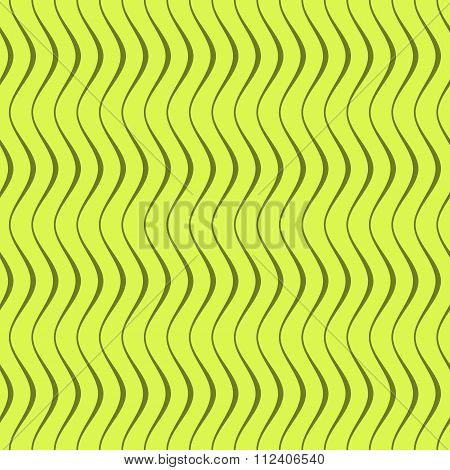 Elegant Seamless Pattern Of Curved Lines In Green Colors