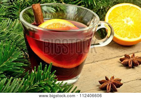Mulled Wine On Table