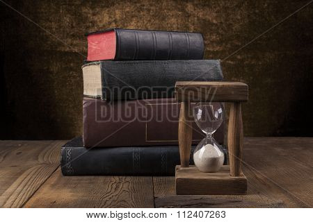 Old Books On Table