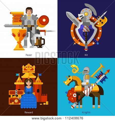 Set Of 2x2 Knight Images