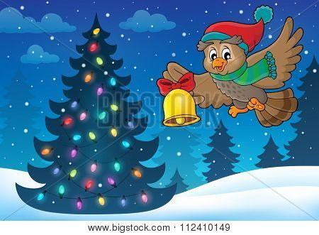 Christmas owl theme image 5 - eps10 vector illustration.