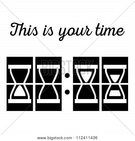 Hourglass, Sandglass In Vector