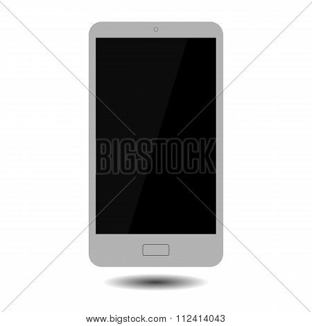 Smartphone touch screen. Isolated on white