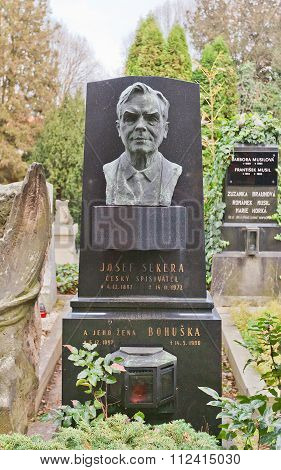 Writer Josef Sekera Tomb In Vysehrad Cemetery, Prague
