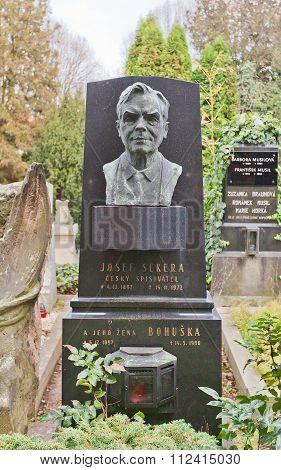 Writer Josef Sekera Tomb In Vysehrad Cemetery, Prague