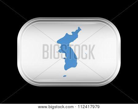 Flag Of United Korea. Rectangular Shape With Rounded Corners