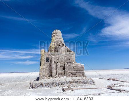 Dakar Bolivia Monument In Salar De Uyuni, Bolivia