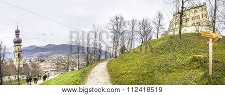 Brunico Castle Path - Bolzano - Trentino Alto Adige - Italy