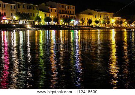 Coast Of The Tyrrhenian Sea At Night. Marciana Marina, Elba Island, Italy