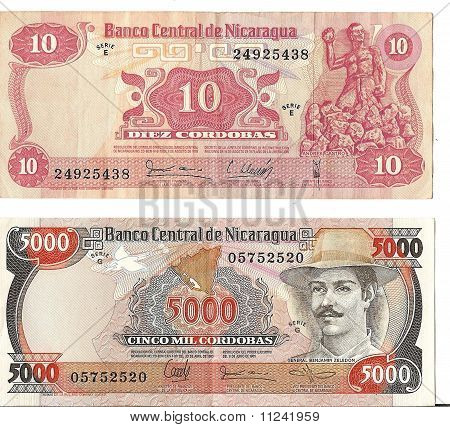 International Currency - Nicaraguan Notes