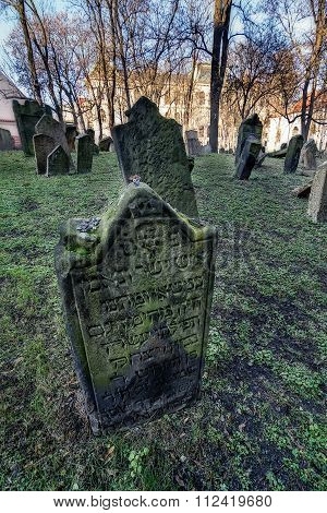 Old Jewish cemetery in Prague, Czech
