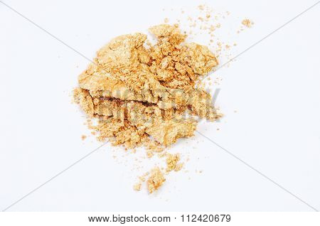 Golden Eye Shadow Isolated On White Background