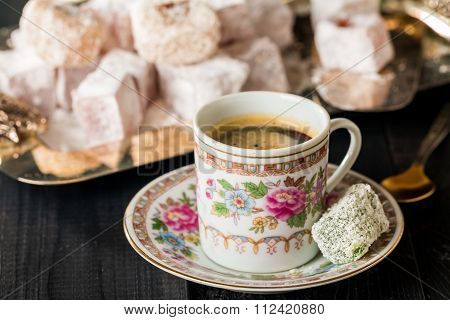 Turkish Coffee With Turkish Delight