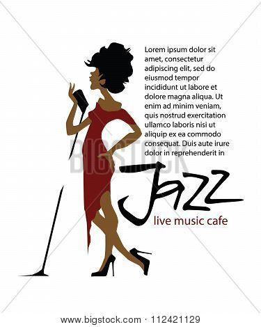 Musicians design concept set with jazz music players and singers.