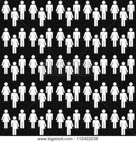 Black And White Transgender, Man And Woman Symbol Tile Pattern Repeat Background