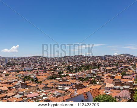 Skyline Of Sucre, Bolivia
