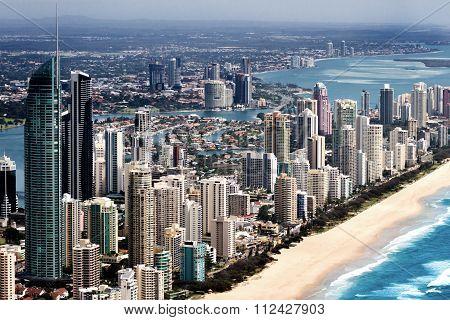 Big Urban City Located On A Coast