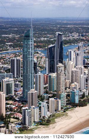 The Center Of A Big Coastal City