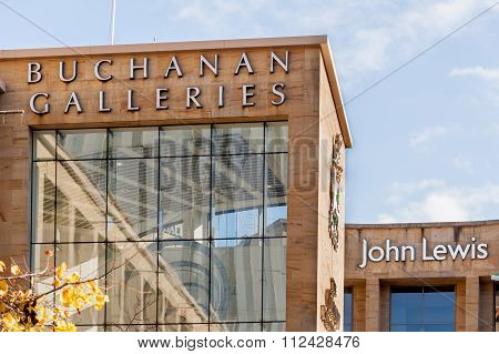 Retail buildings in Glasgow