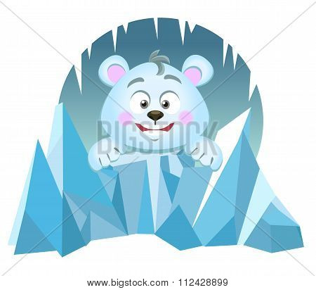 Illustration Of Cute Polar Bear