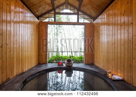 interior of hotspring for spas