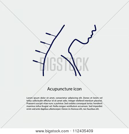 Acupuncture Icon With Place For Text.