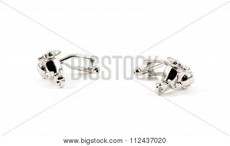 Isolated Motorbike Cufflinks