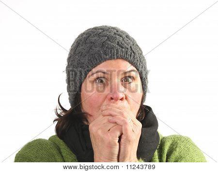 Frau kalt