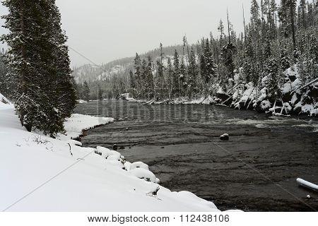 Winter Madison River Yellowstone