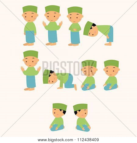 kids pray praying shalat islam moslem  boy move