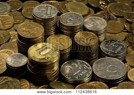 stack of coins, color image