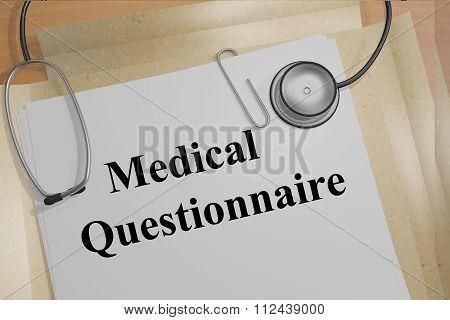 Medical Questionnaire Concept