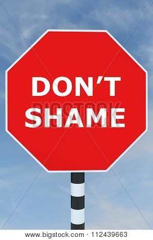 Don't Shame Concept