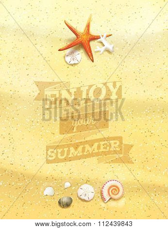 Enjoy Your Summer Sandy Background.