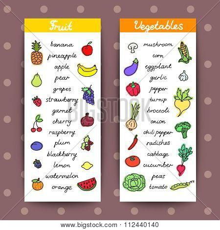 Fruits And Vegetables Banners