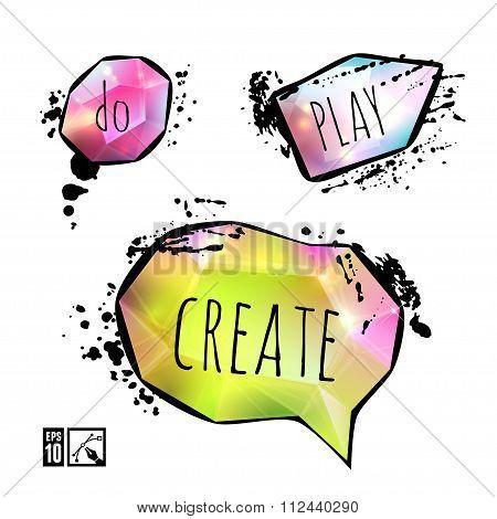 Set Of Creative Speech Bubbles.
