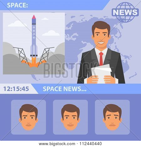 Reporter and news space