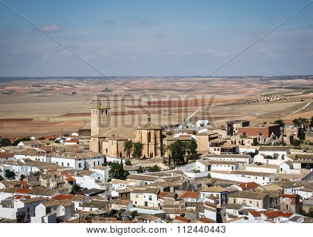 Cityscape With A Church At Belmonte