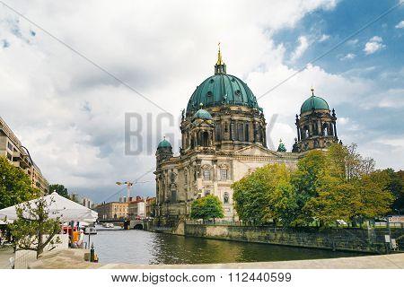 Berlin, Germany - Circa September 2014: Berlin Cathedral. German Berliner Dom.