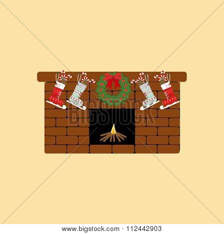 Fireplace Icon Vector
