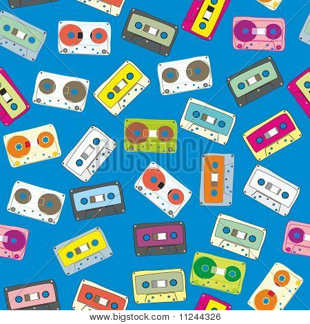 pattern audio cassettes