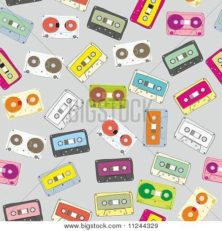 pattern audio cassettes
