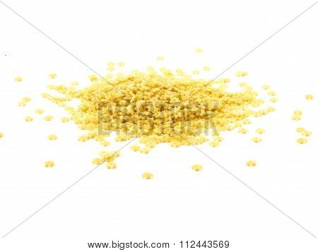 A Portion Of Stars Shaped Pasta Isolated On White