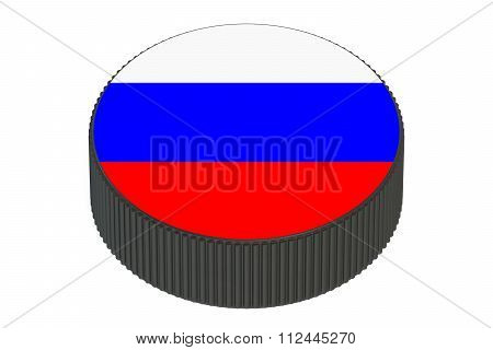Puck With Flag Of Russia