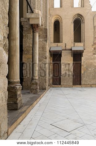 CAIRO, EGYPT - November 11: Courtyard Of A Historic Mosque In Old Cairo, Egypt