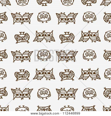 owls seamless pattern 3