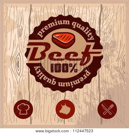 premium beef emblem