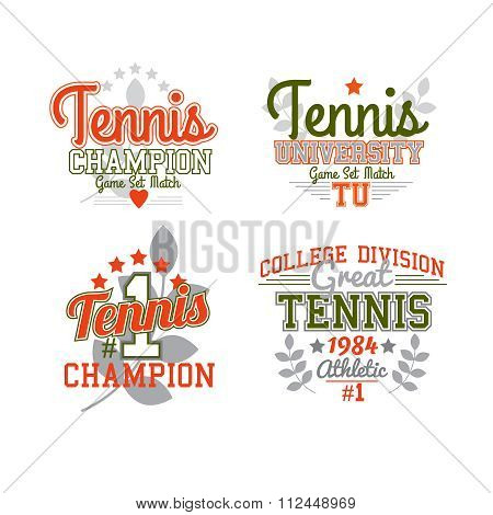 Tennis Badge Collection